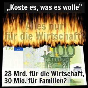 Ein brennender 100-Euro-Schein