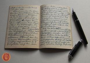Notizbuch. Handschrift um 1920.