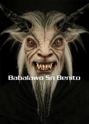 demonio poderoso e imparable, utilizado en ritos satánicos, es imparable y agresivo. misa negra