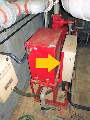 消火ポンプには制御盤