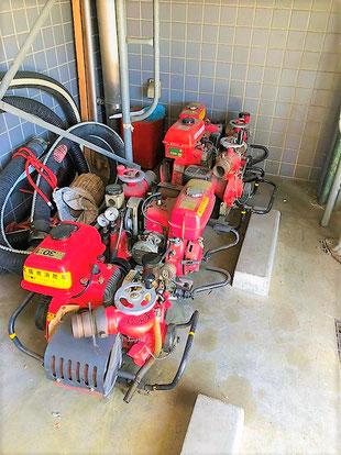 少しずつ形が異なる消防ポンプ。part.2