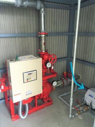 消火ポンプと充水用ポンプ