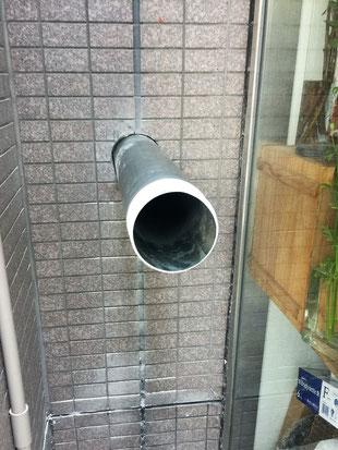 配管を挿入・内側配管と結合。