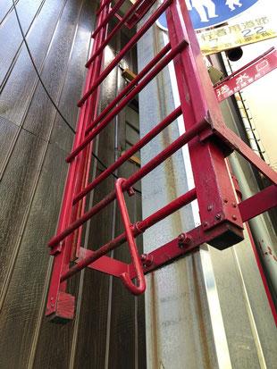 登はん梯子は普段収納