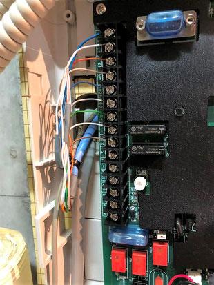 火災通報装置本体の端子台