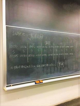 受験地と受験番号