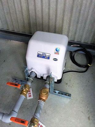 圧をかけて流す充水用ポンプ