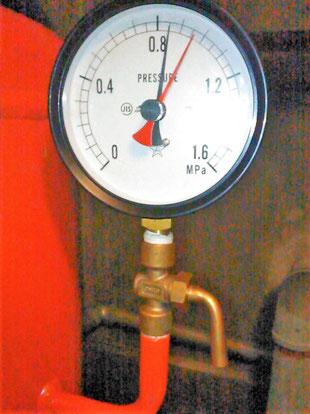 圧力が規定値以下で消火ポンプ起動