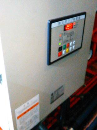 消火ポンプ起動で各値を確認