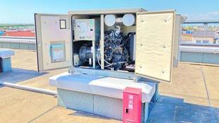 キュービクル式自家用発電設備