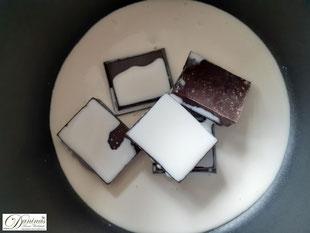 Zutaten Schokolade Glasur