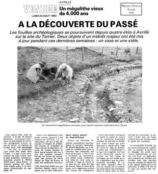 1990 - A la découverte du passé - Presse Océan