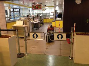 Montage Eingangsbereich Kantine neu durch WIG Sommer, Regalprüfung, Regalinspektion, Regalinstandsetzung Region Stuttgart - www.wig-sommer.de