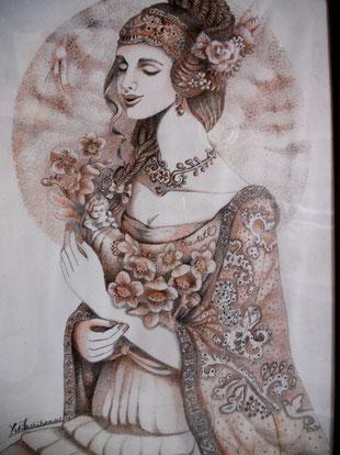 しあわせの花 絵画 楽園のアート 立花雪 YukiTachibana