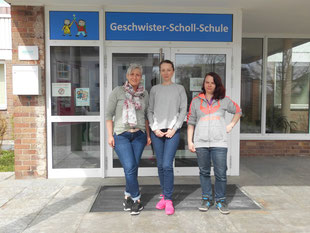 Das Betreuungsteam: Frau Throm, Frau Beroschwili und Frau Nietgen