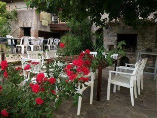 erholen im Garten der Casa San Lorenzo