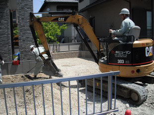 掘削・砕石・床付