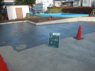 土間コンクリート舗装完了
