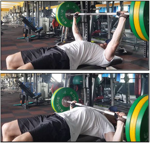 bench press horizontal flat