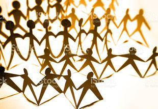 Menschenkette, Vernetzung, Partnerschaft