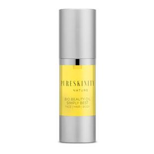 Pureskinity Beauty Oil Bio Arganöl Mandelöl Traubenkernöl Haut Haare feuchtigkeitsspendend Hautpflege Haarpflege repariert geschädigtes Haar Antifaltenpflege reife Haut trockene Haut normale Haut