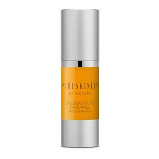 Pureskinity Bio Beauty Oil echtes Rosenöl Wildrosenöl Vitamine Antioxidantien reife Haut trockene Haut antiaging Antifalten regenerierend feuchtigkeitsspendend