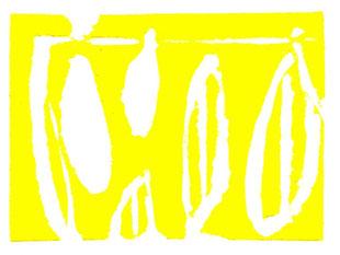linoleum originale di Roberto Dossi (misura 48x65 mm)