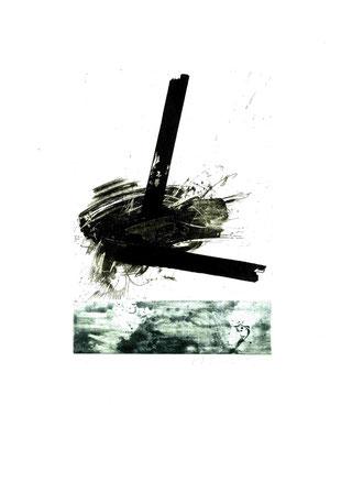 incisione originale di Mario Benedetti a doppia lastra - misura totale lastre 247x173 mm