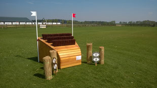 eventing Cross-country Smalletje arrowhead borstels hindernis fence gelände