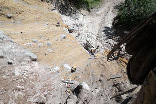 法面保護工事(安房峠|長尾県松本市)崩落斜面を復旧