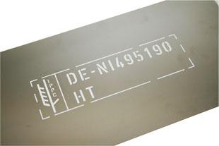IPPC Schablone aus Metall