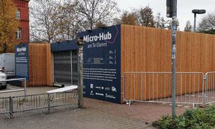 Micro-Hub am Te-Damm in Berlin, jetzt unter der Co-Regie von URBANCARGO, Foto: first mile