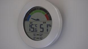 湿度計も常にチェック