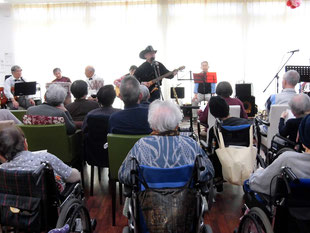 ホームで開催された音楽会