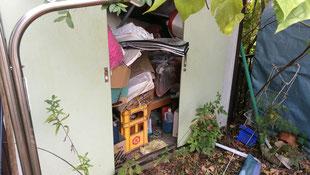 笠間市の不用品回収、物置の撤去処分