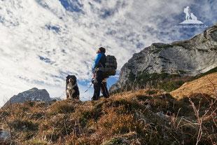 Wandern mit Hund Frühjahr Berchtesgadener Land Halsalm