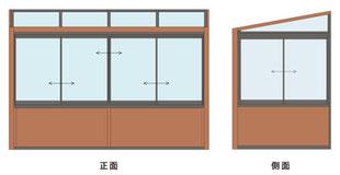 腰壁 + 高窓