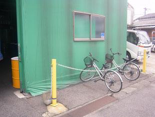 サイクルポート新築工事:工事前