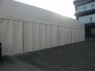 テント倉庫新築工事:工事後