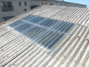 破損採光屋根取替工事:工事後
