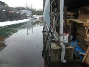 雨水排水対策工事:工事前
