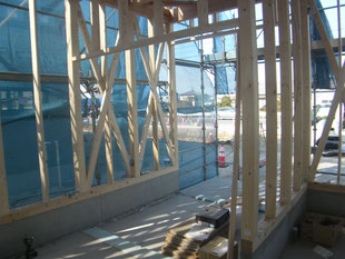 木造店舗サッシ下地平鋼:工事前