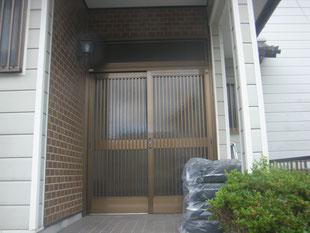 リシェント玄関ドア②:工事前