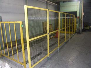 アルミ製安全柵新設工事:工事後