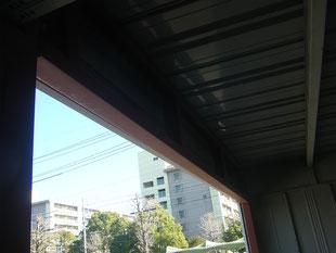 ガレージシャッター下地:工事後