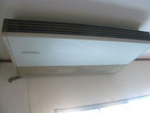 食堂エアコン改修工事:工事前