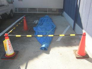 カーポート移設工事:工事前