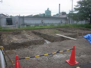 製品置場倉庫鉄骨工事:工事前