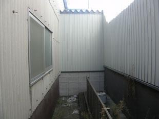 屋根付き電設架台工事:工事前