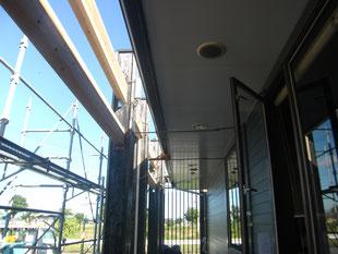 店舗改修鉄骨工事:工事前